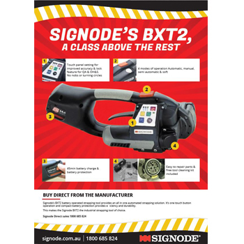 Signode BXT2 battery operated strapping hand tool