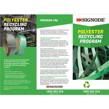 Signode Polyester Recycling Program